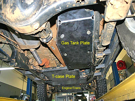 99-04 XTERRA ONLY Fuel Tank Skid Plate