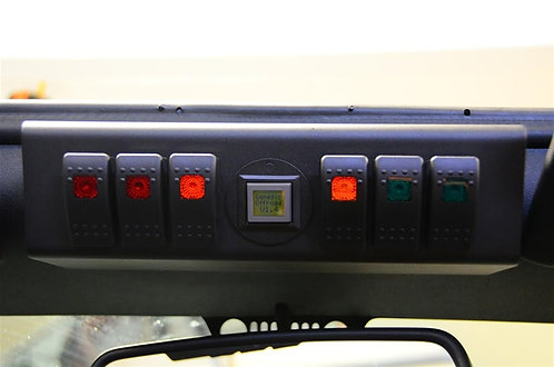 sPOD & theSource System, 6 Double LED Switches, Jeep JK 12-15 w/ Genesis Adapter
