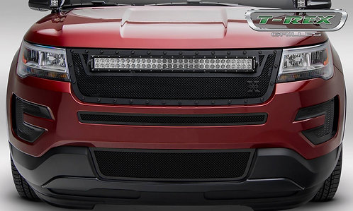 2016-2017 Ford Explorer Stealth Torch Grille Black Replacment Pc w/30in LED Bar