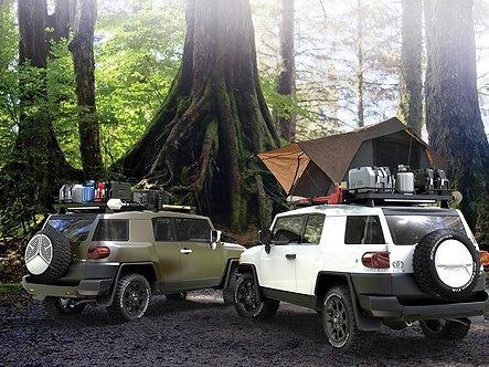 Toyota FJ Cruiser Slimline II 1/2 Roof Rack Kit - by Front Runner