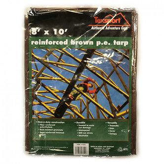 Reinforced Rip-Stop Polyethylene Tarps, Brown 8'x10' - By Texsport
