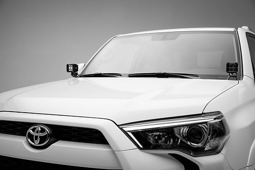 """2014-2020 Toyota 4Runner Hood Hinge LED Bracket to mount (2) 3"""" In LED Pods"""