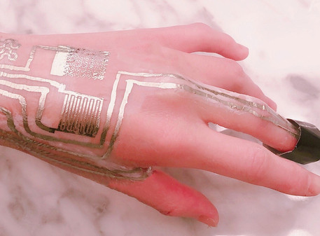 Engineers Print Wearable Sensors Directly on Skin Without Heat