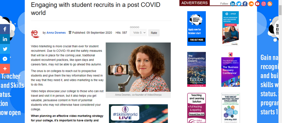 Using Video to Engage With Student Recruits
