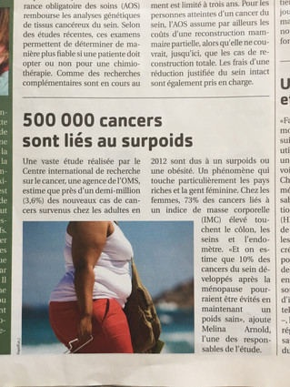 Surpoids et cancer