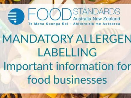 Australia e Nuova Zelanda. Cambiano le disposizioni sull'indicazione degli allergeni
