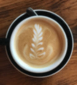 Latte art done at Cup of Brooklyn