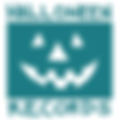 small inverted turquoise hallowrexx logo