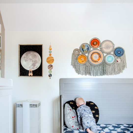 Star Wars Space Themed Nursery and Bed Room