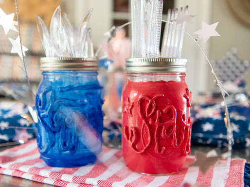 Crafting with Ball for July 4th