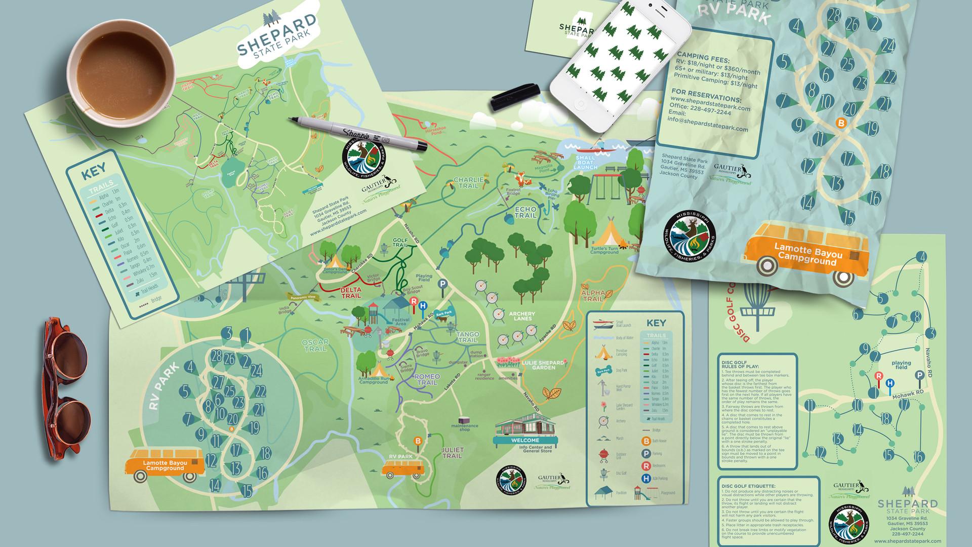 Shepard State Park Packaging