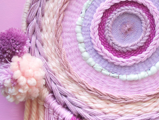 Fiber Art // Pinks and Lavenders