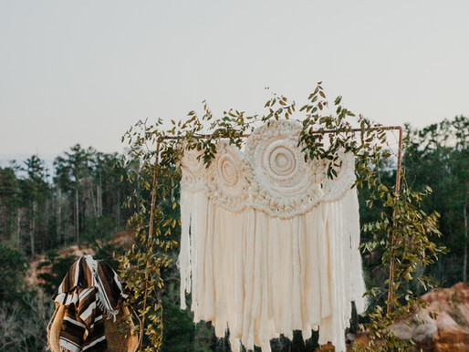 Woven Wedding Backdrops