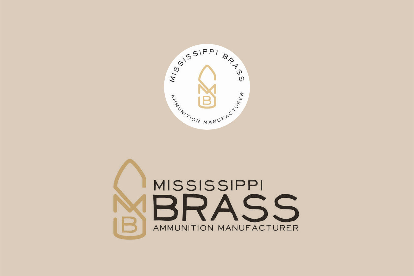 MS Brass Ammunition Logo Design
