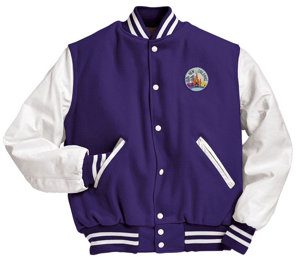 New Orleans Patch Varsity Jacket