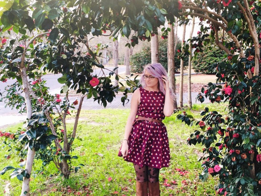 Playing in the Camellias