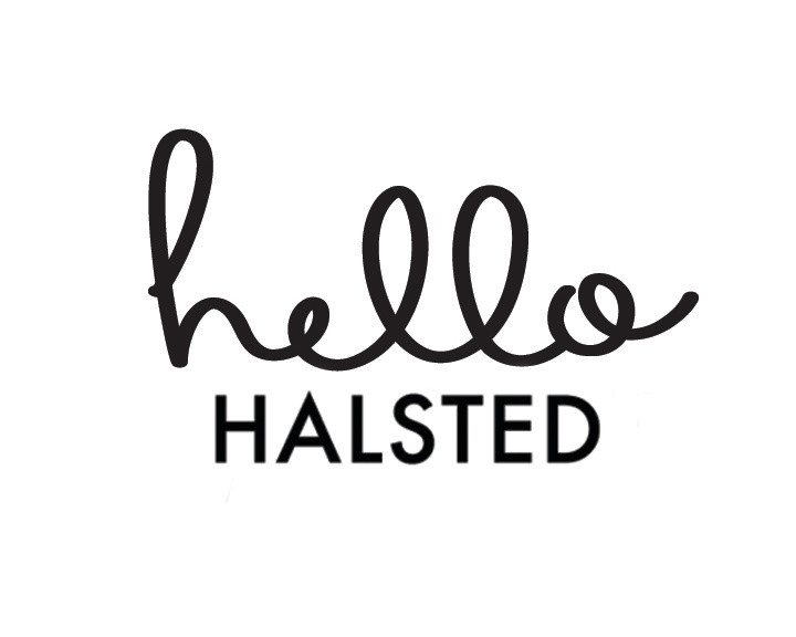 Hello Halsted Logo, Black