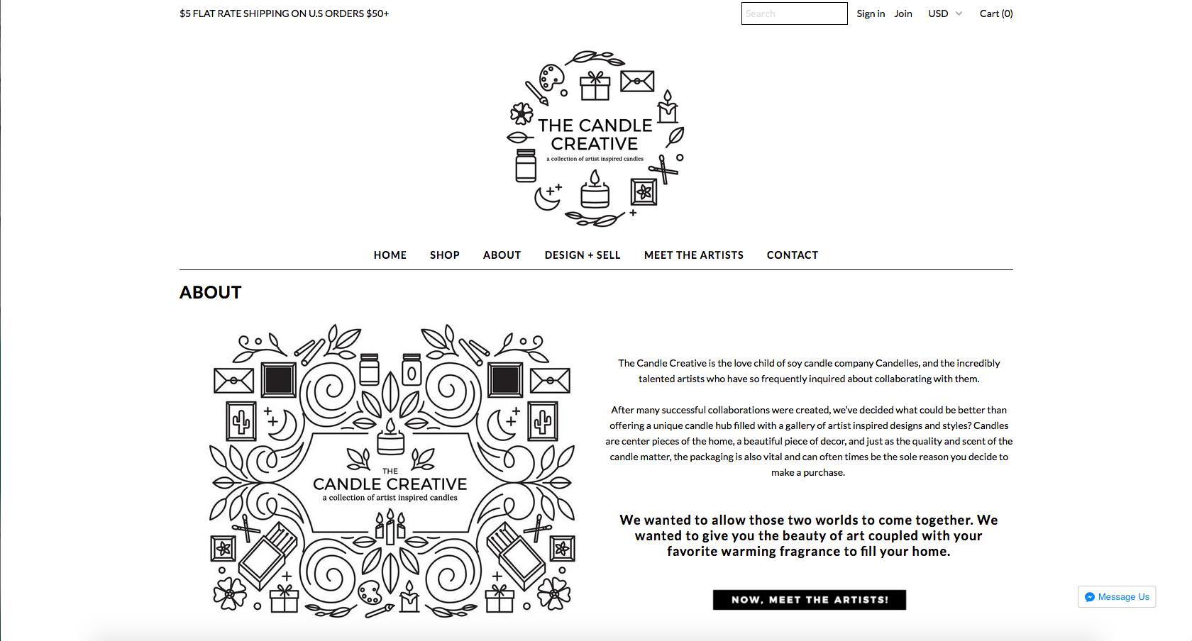 Candle Creative Branding and Web