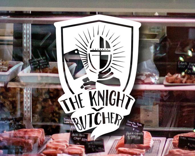 Knight Butcher White Logo