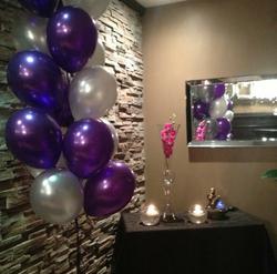 purple bouquet of balloons