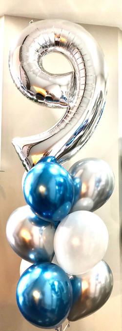 balloon number bouquet