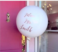 bridal shower custom balloon