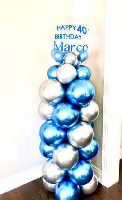 chrome balloon tower