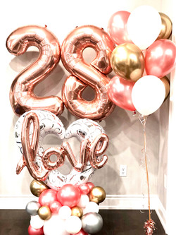 love balloon bouquet display