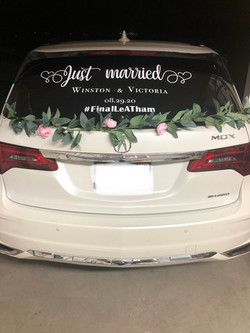 wedding vehicle decor