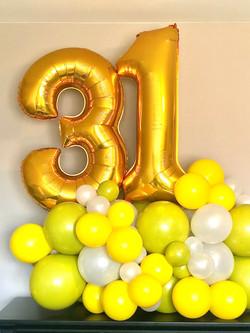 balloon number display