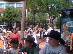 Crowd in awe of the Fishpipe