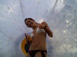 Bikini Babe in the Fishpipe
