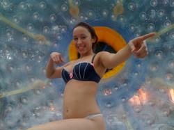 Girl in Bra in the Fishpipe
