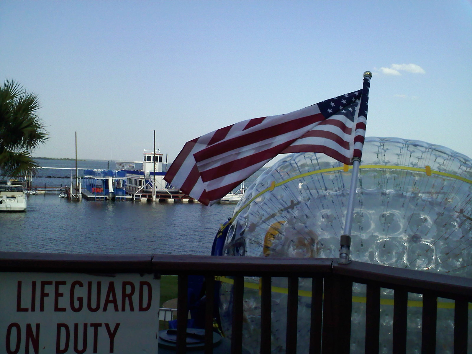 American Flag over Fishpipe
