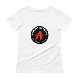 logo- Ladies' Scoopneck T-Shirt