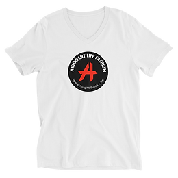 Logo-Unisex Short Sleeve V-Neck T-Shirt