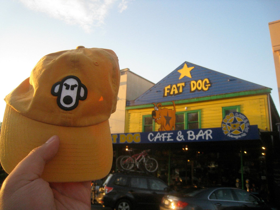 Magic hour at Fat Dog Cafe