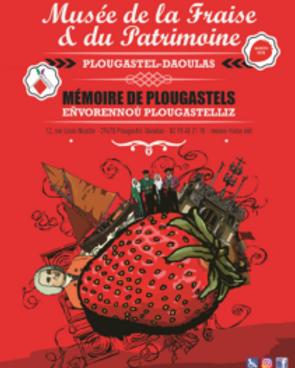 """Affiche de l'exposition temporaire 2018 """"Plougastel pendant la Grande Guerre et Mémoire de Plougastels"""" - Musée de la Fraise et du Patrimoine"""