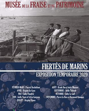 """Affiche de l'exposition temporaire 2020 """"Fiertés de marins"""" - Musée de la Fraise et du Patrimoine"""