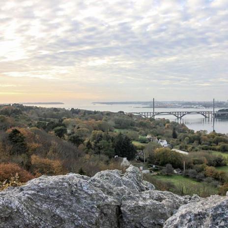 Vue sur le pont de Plougastel du rochet de l'imeratrice