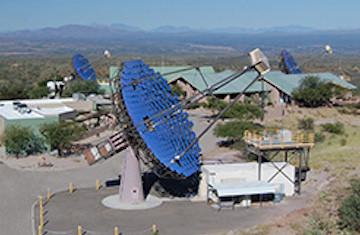 The VERITAS array is a collection of four 12-meter Cherenkov telescopes