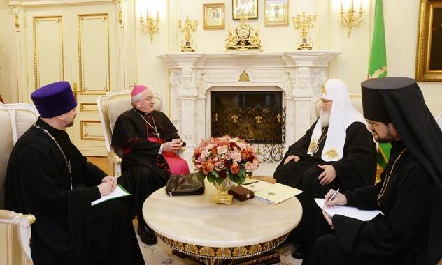 Встреча Патриарха Кирилла с архиепископом Челестино Мильоре
