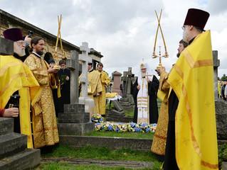 Патриарх Кирилл совершил литию на месте захоронения митрополита Сурожского Антония (Блума)