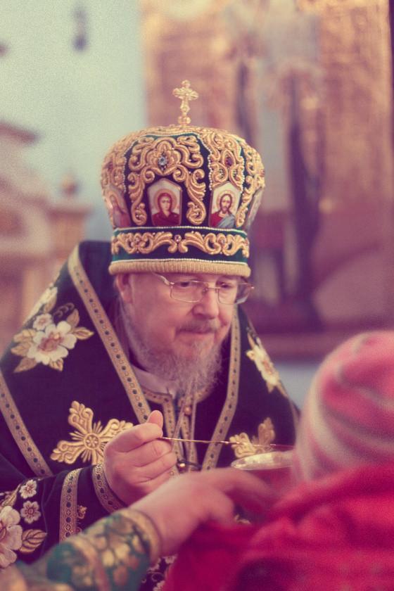 Неделя Цветоносная в Покровском кафедральном соборе