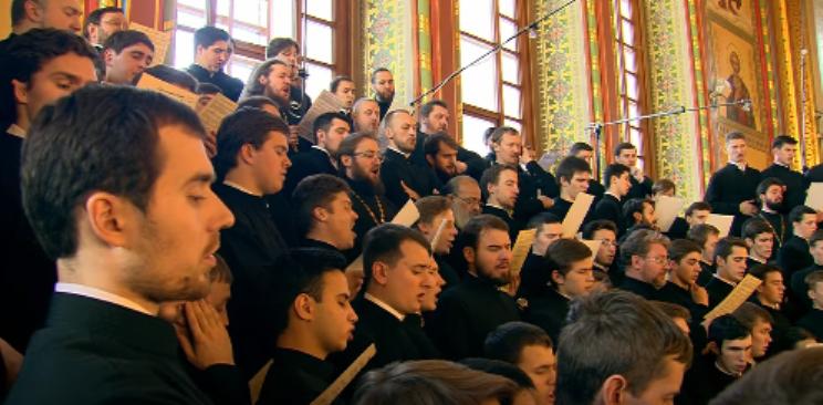 Церковный хор за Литургией
