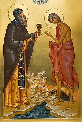 Причастие преподобной Марии