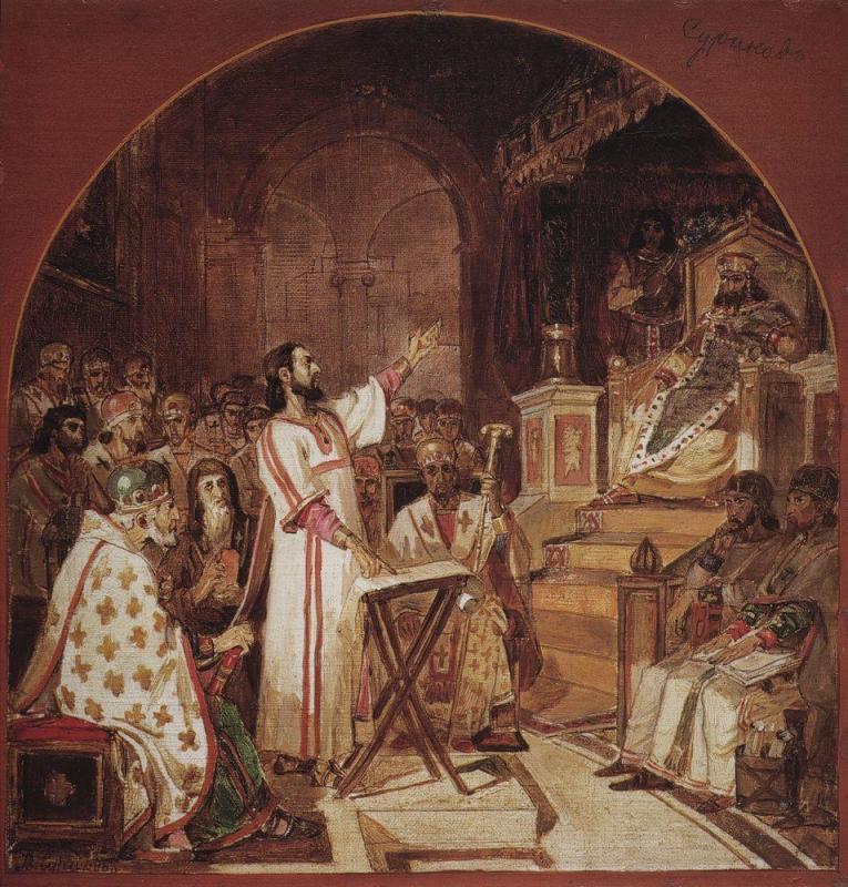 Василий Суриков, Первый Вселенский Собор, 1876 год. Картина