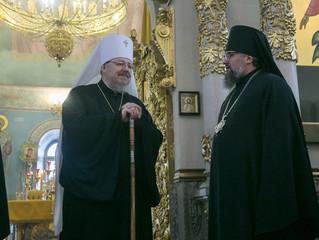 По случаю Дня рождения митрополита Пантелеимона иерархи Красноярской митрополии совершили совместную