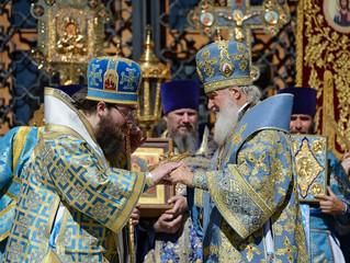 Предстоятели Русской и Чешской Православных Церквей совершили Литургию в Успенском соборе Московског