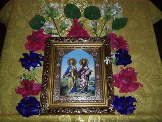 Богослужения в селе Бархатово в день памяти святых первоверховных апостолов Петра и Павла